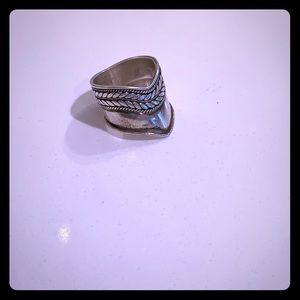 Super unique and cool vintage sterling ring
